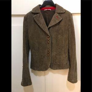 Vintage Stefanel Brown Herringbone Blazer, Size 4